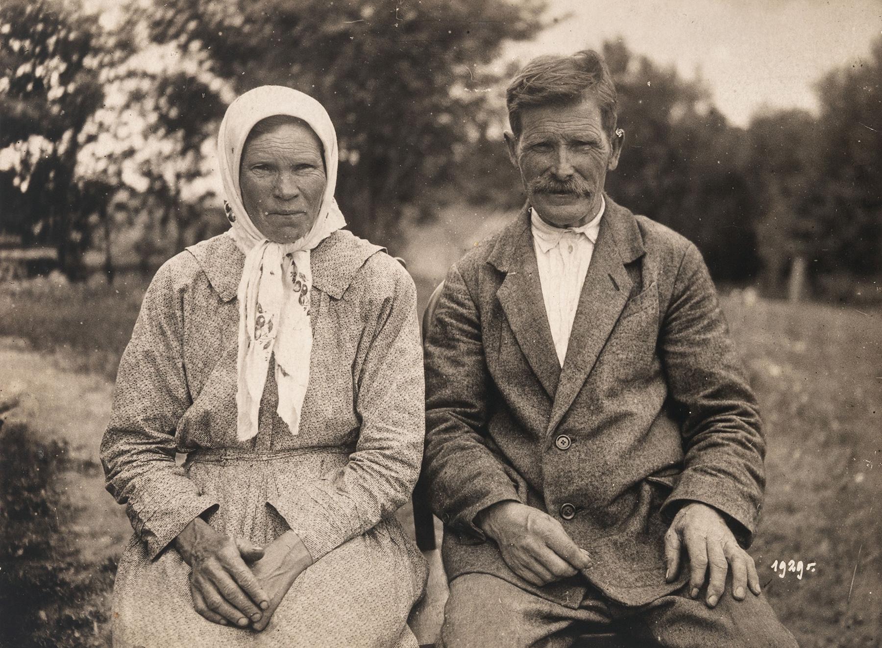 Juhani Konkan vanhemmat Katri ja Simo Konkka Inkerissä vuonna 1929. SKS KIA, Juhani Konkan arkisto. CC BY 4.0