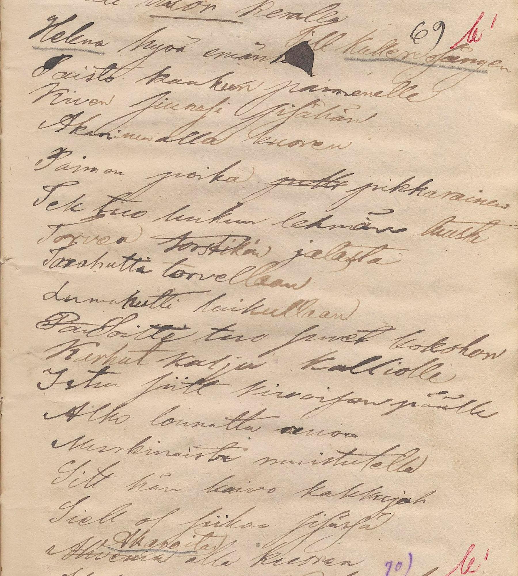 Kalevanpojan kosto -runon D.E.D. Europaeus kirjoitti muistiin kuudennella keruumatkallaan Tyrön tienoolla, vuonna 1853. SKS KRA, D.E.D. Europaeuksen kokoelma. CC BY 4.0