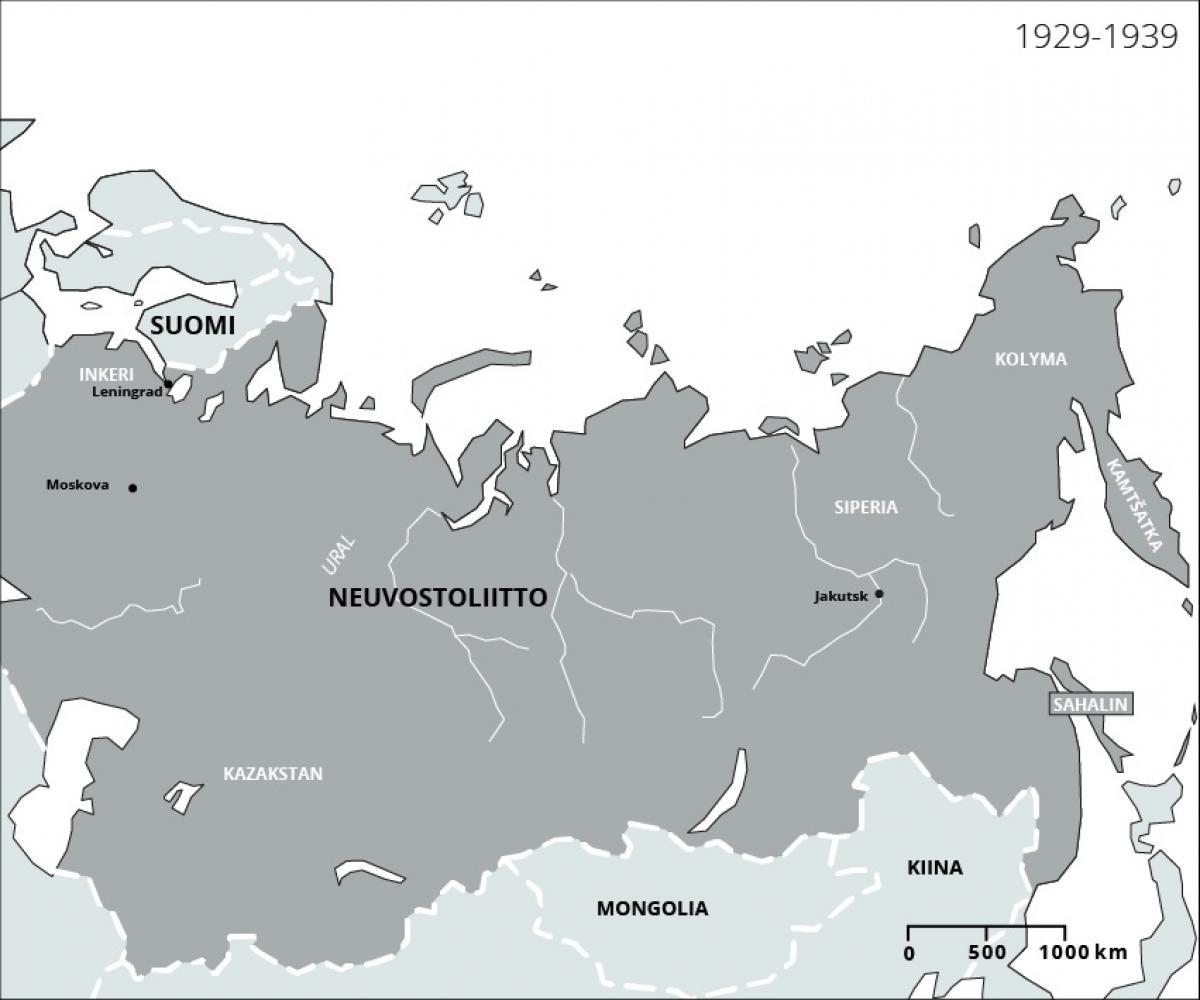 Inkerinsuomalaisten karkotukset 1920–1930-luvuilla Inkerinmaalta eri puolille Neuvostoliittoa. Tekijä Hanna Ruusulampi. SKS. CC BY 4.0